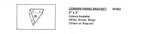 """Injection Moulded 2"""" x 2"""" Corner Fixing Bracket available in White, Brown and Beige"""
