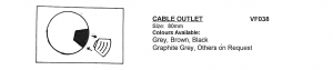 80mm Cable Outlet